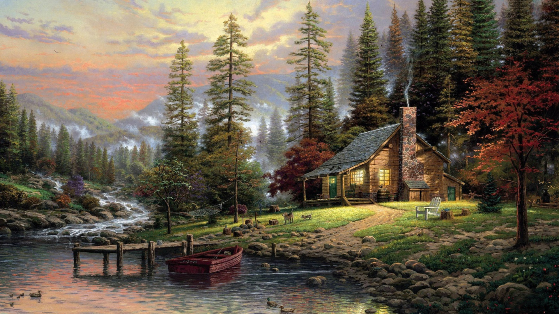 summer cottage desktop wallpapers